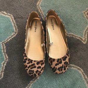MOSSIMO Ballet Flats 10 Cheetah Print Fabric VGUC